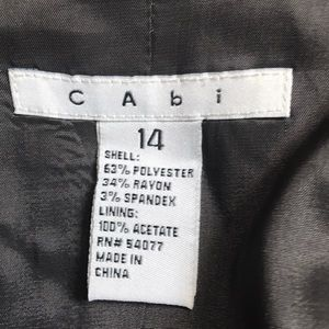 CAbi Jackets & Coats - CAbi dark gray pinstripe blazer jacket sz 14